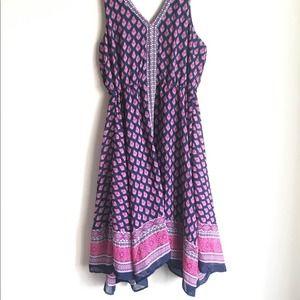 MAGIC Plus Size Dress Sheer Lined Handkerchief Hem